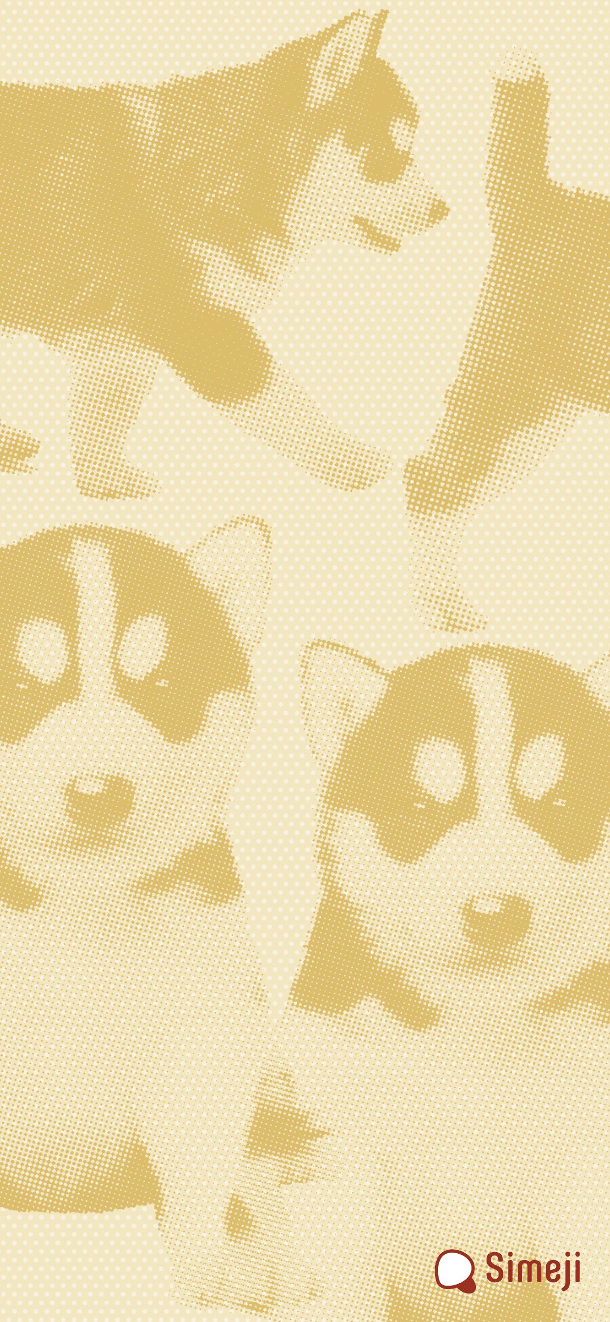 スマホ用 仔犬ハスキーの壁紙